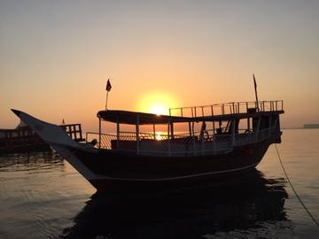 Qatar Dhow at Sunset